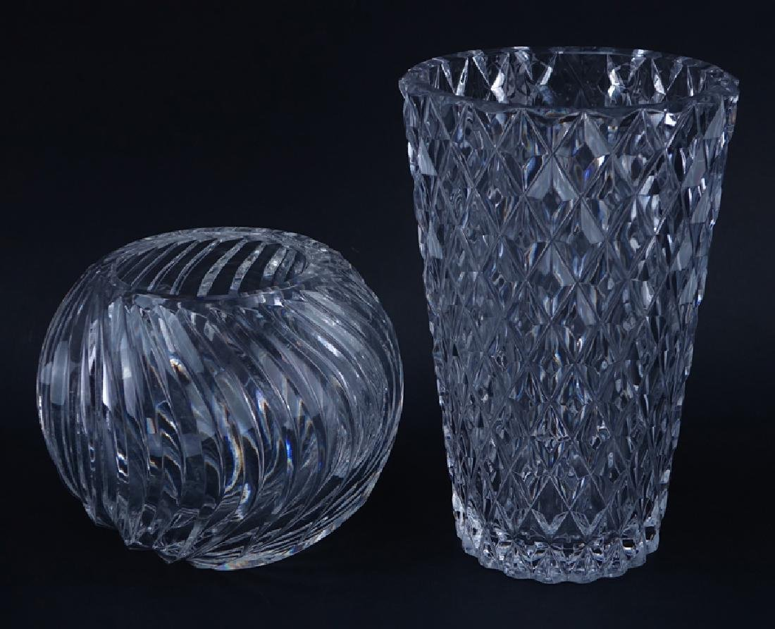 Large Collection of Val St. Lambert Crystal Tableware. - 4