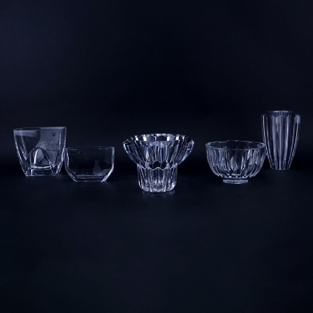 Collection of Six (6) Orrefors Crystal Tableware