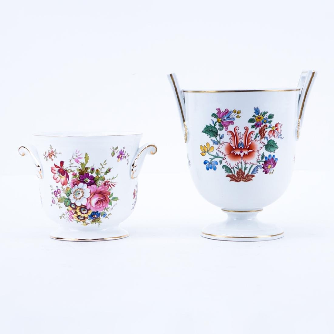 Two (2) Vintage Porcelain Cachepots by Richard Ginori