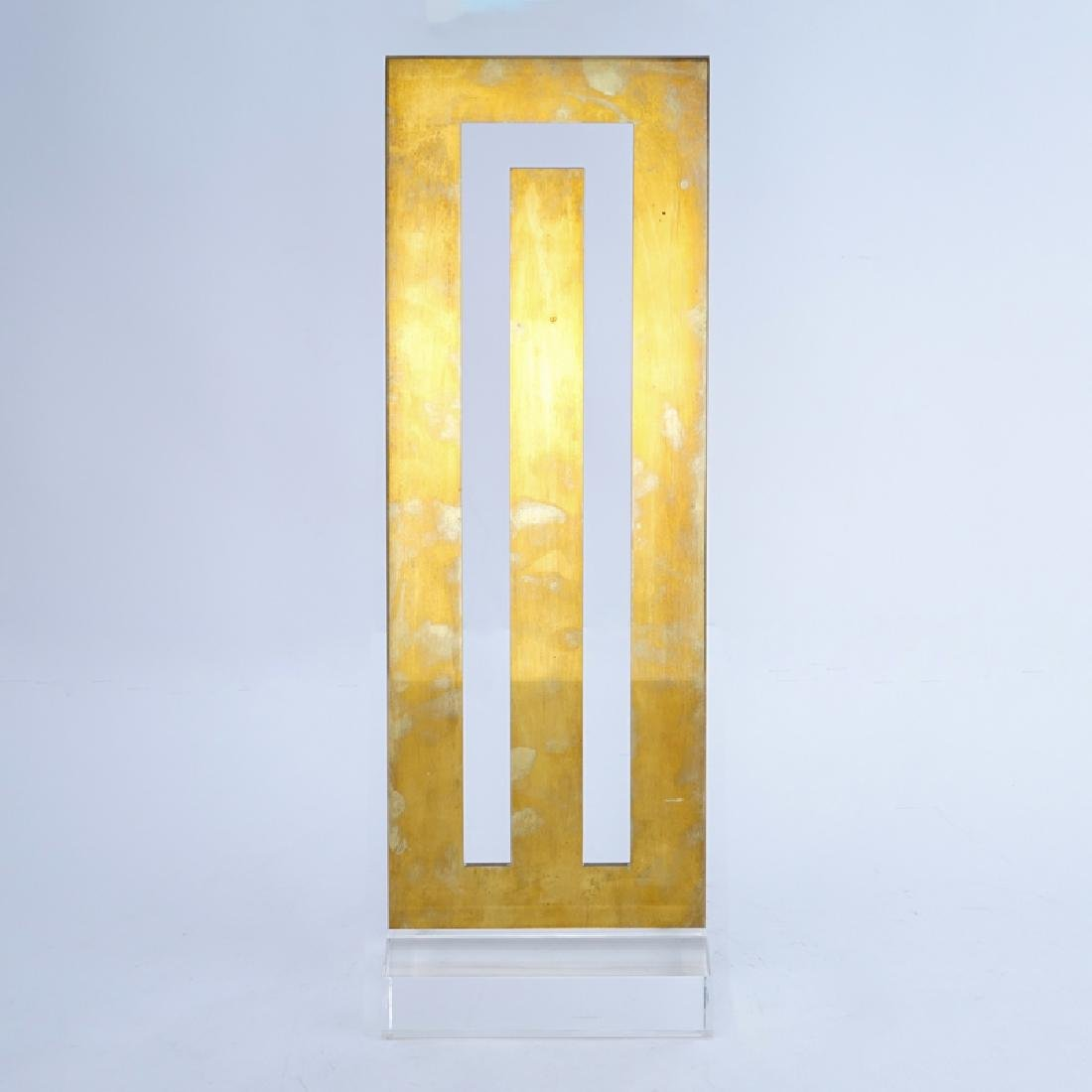 Stephen Edlich, American (1944-1989) Brass and Lucite