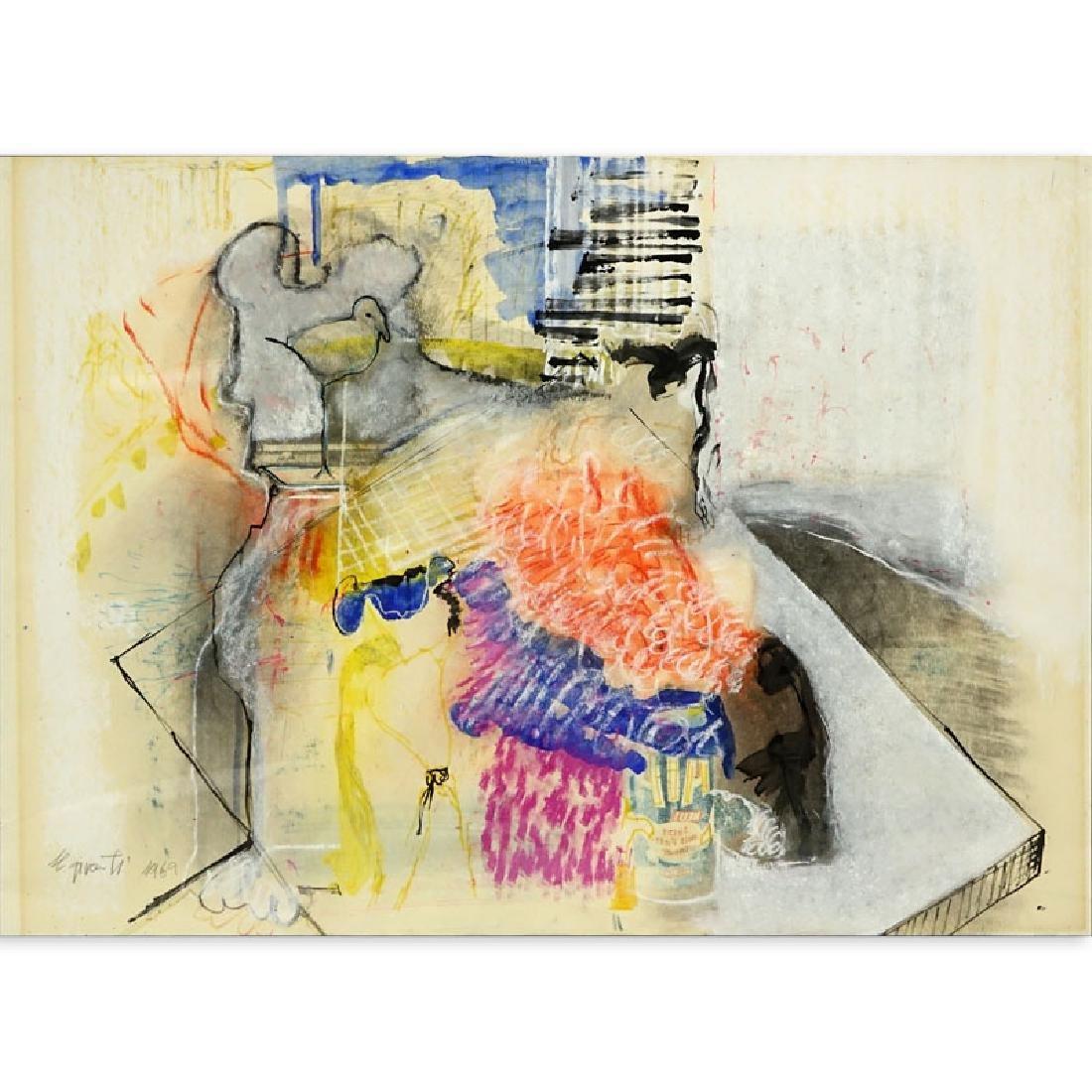 Moshe Givati, Israeli (b. 1934) Gouache and Watercolor