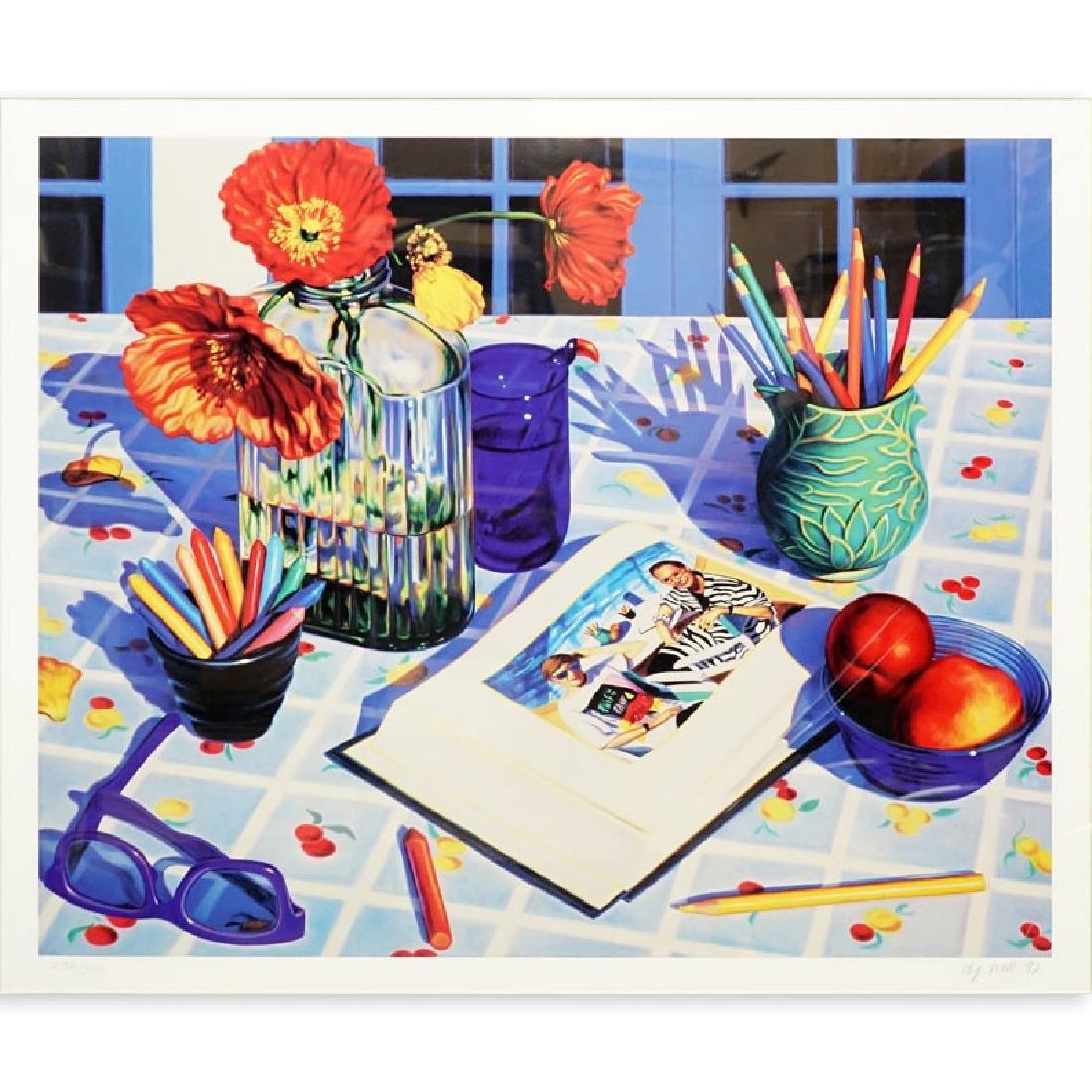 """D J Hall, American (born 1951) Color lithograph """"Still"""