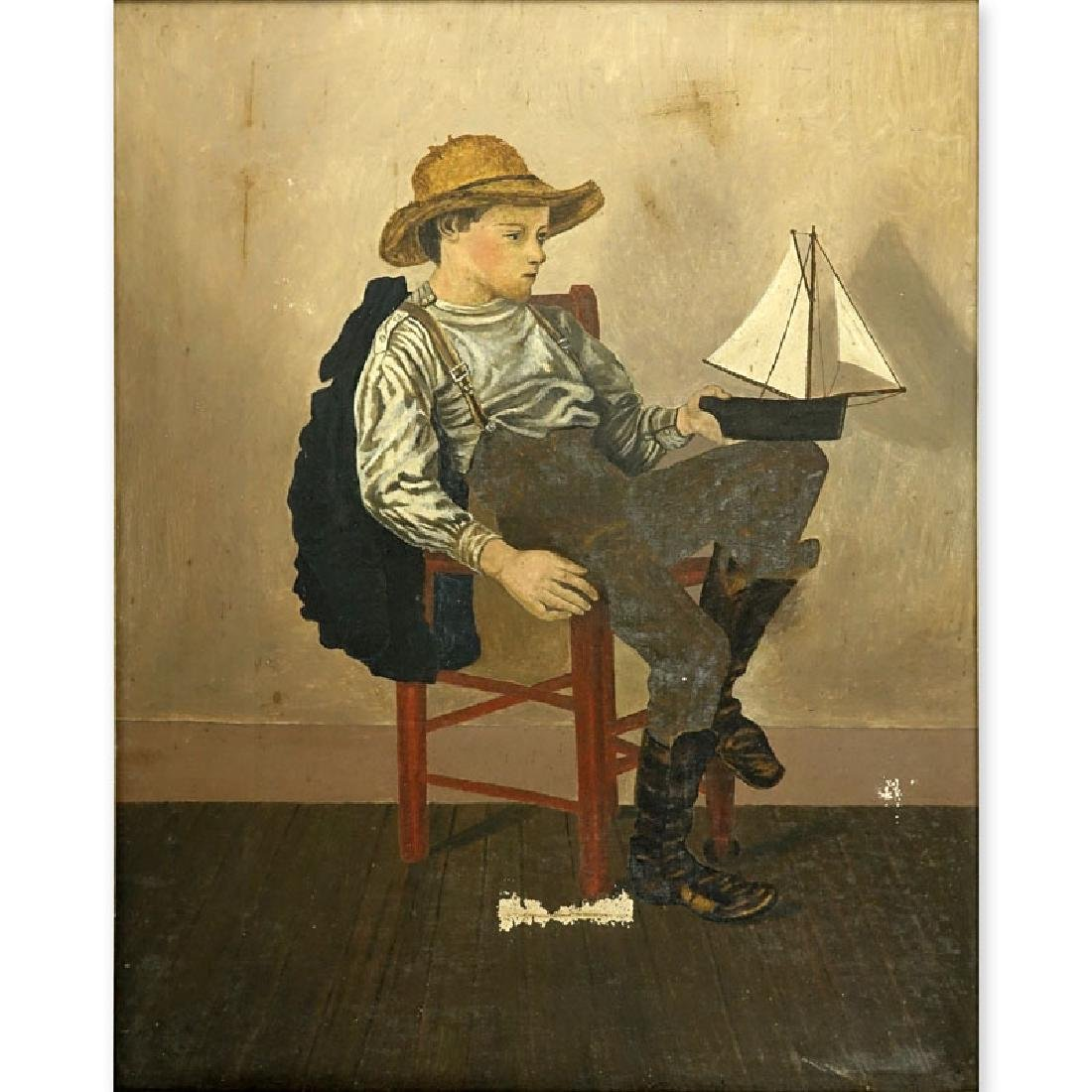 American School, 19/20th Century Oil on Canvas in the