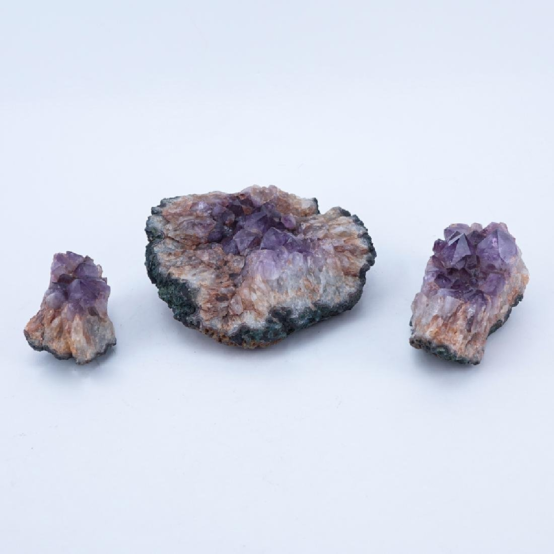 Three (3) Amethyst Geodes