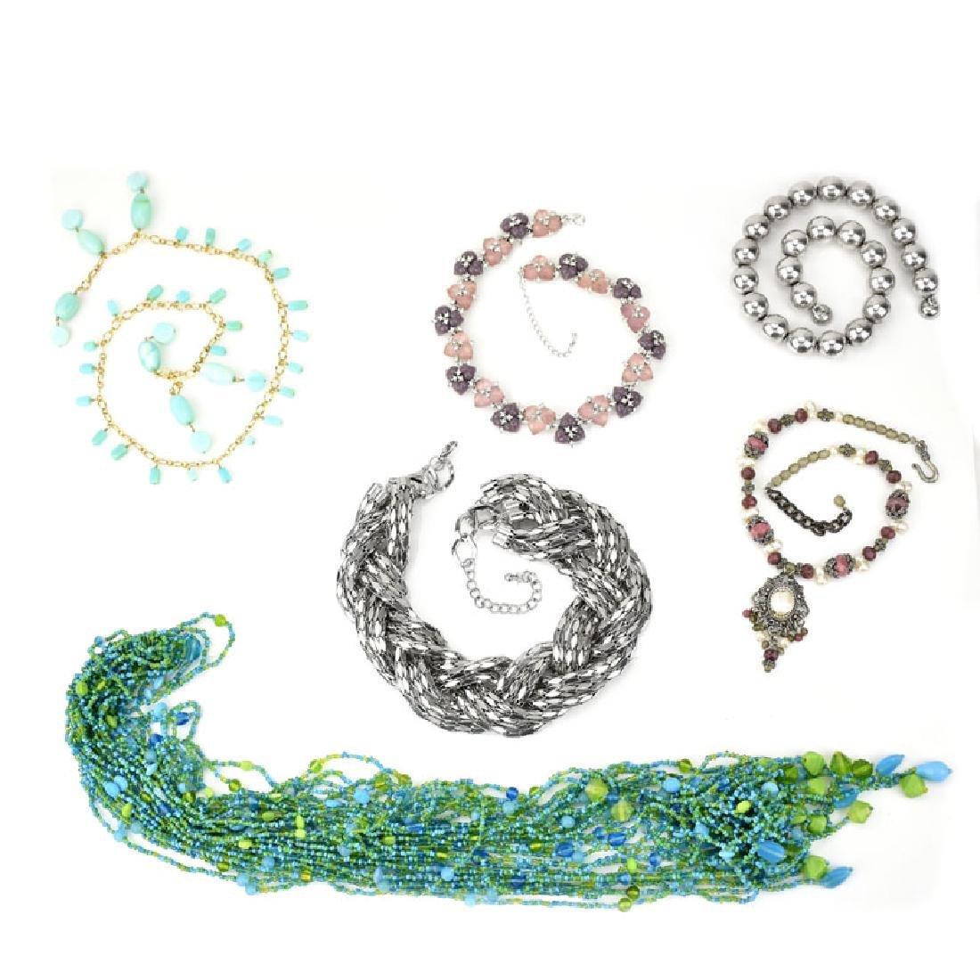 Six (6) Piece Costume Jewelry Necklace Lot