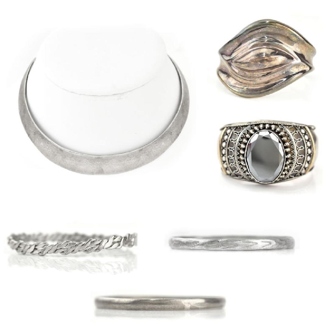 Six (6) Pieces Vintage Sterling Silver Jewelry