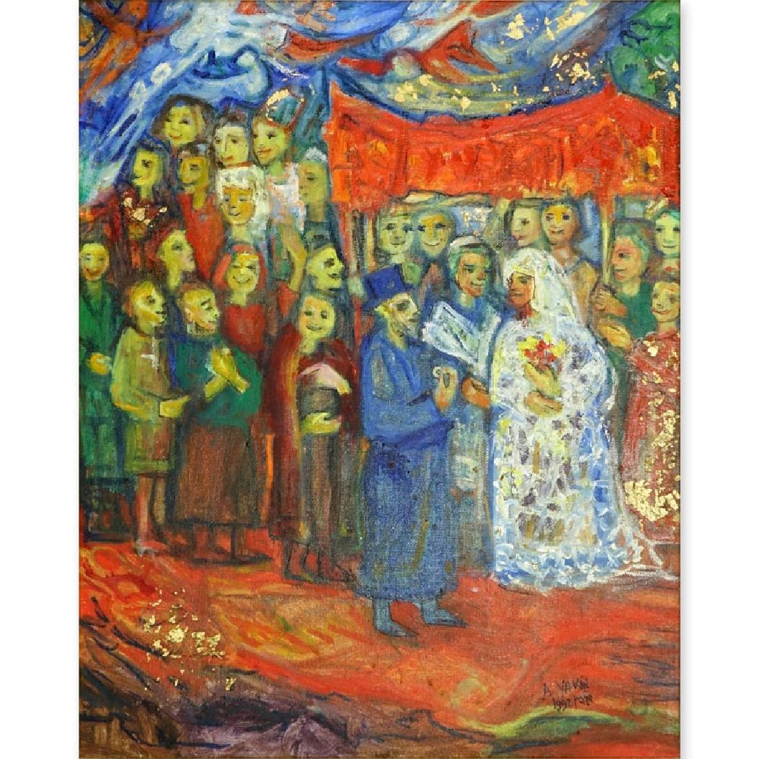 Abraham Yakin, Israeli  (born 1924) Oil on Canvas