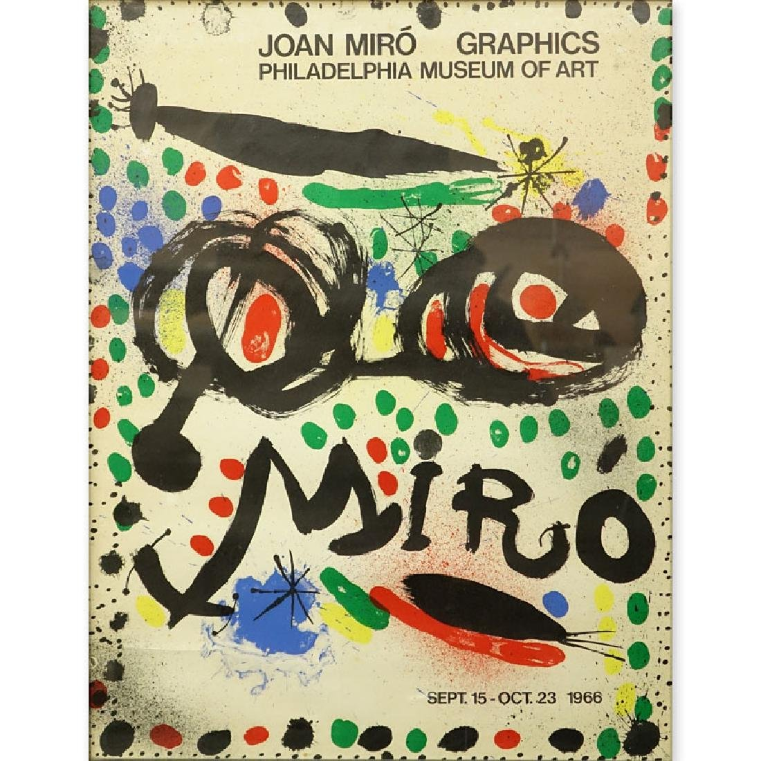 "Joan Miro Poster ""Philadelphia Museum Of Art"""