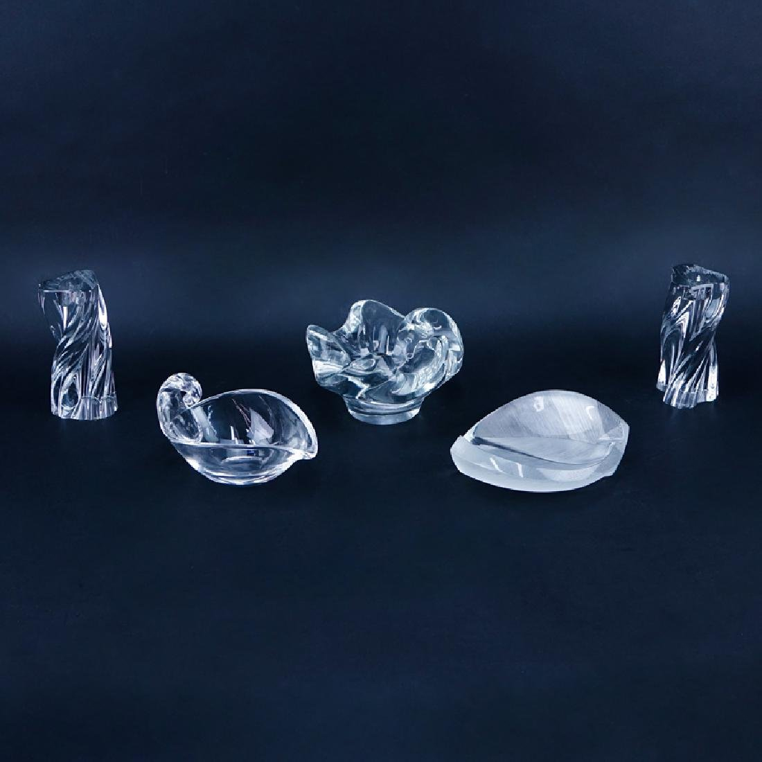 Collection of Lalique, Steuben and Baccarat Crystal