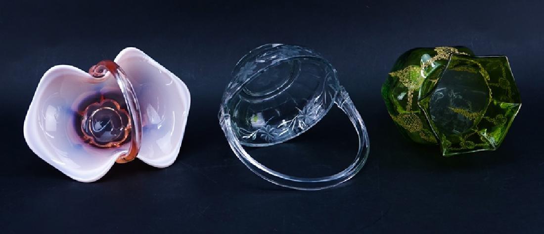 Grouping of Three (3) Art Glass Tablewares - 2
