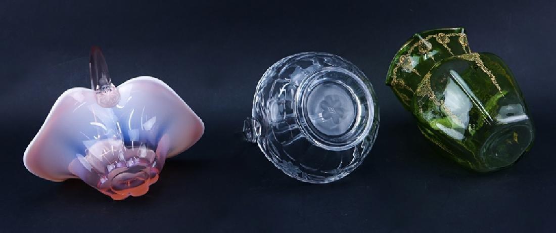 Grouping of Three (3) Art Glass Tablewares - 3