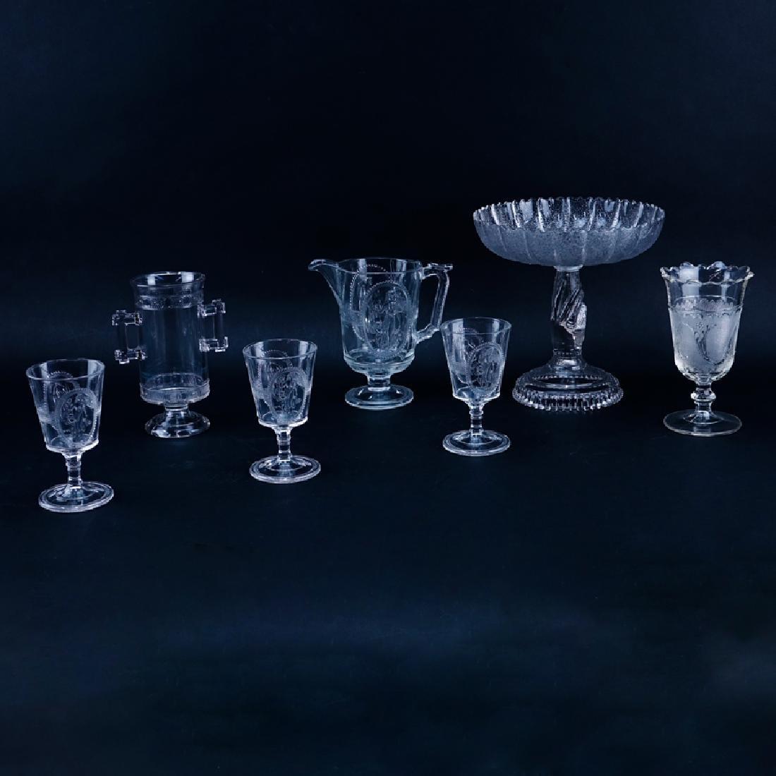 Seven (7) Antique Richards & Hartley Glass Tablewares
