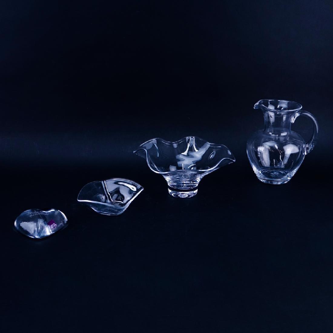 Four (4) Simon Pearce Glass Tablewares