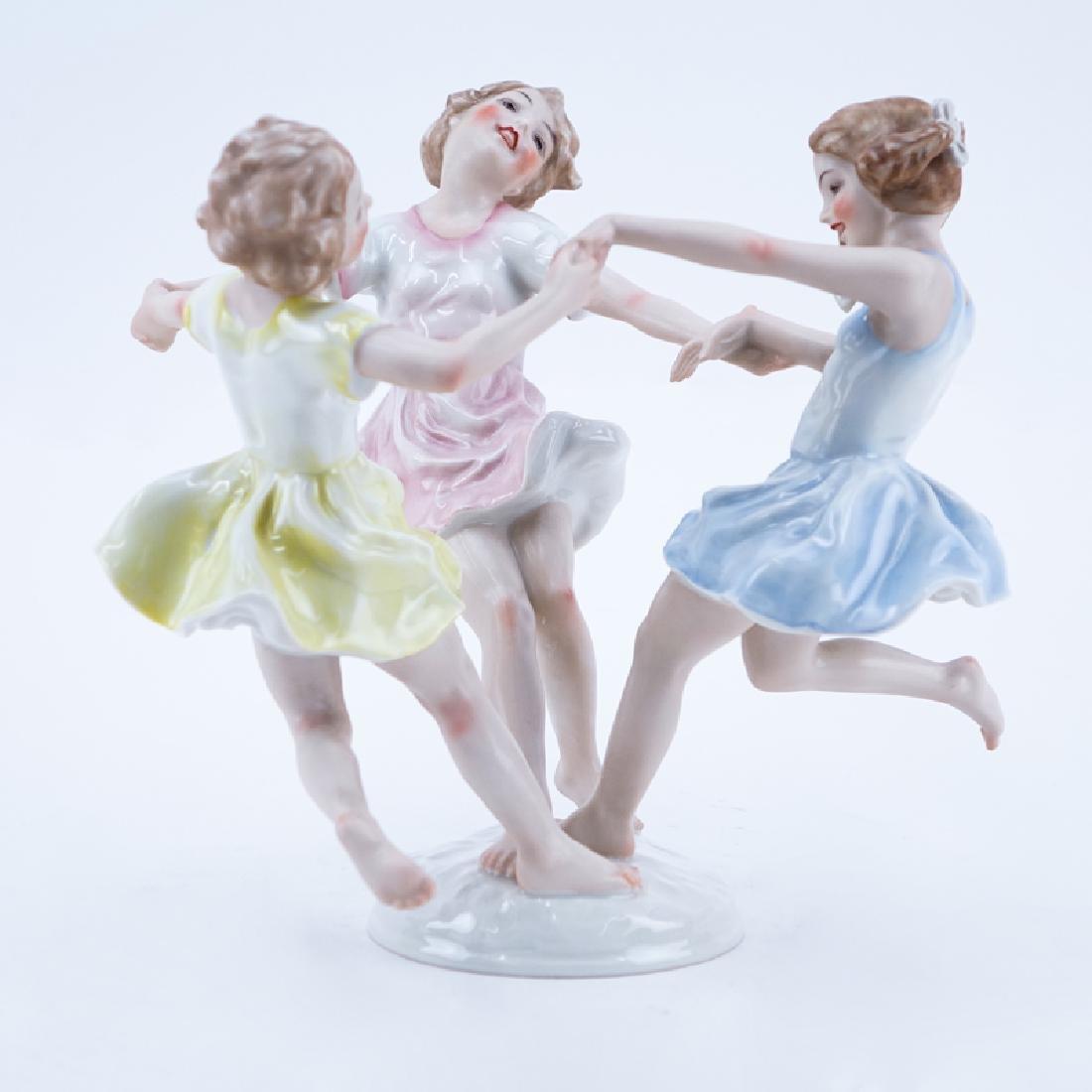 """Vintage German Hutschenreuther Porcelain Group, """"Ring"""