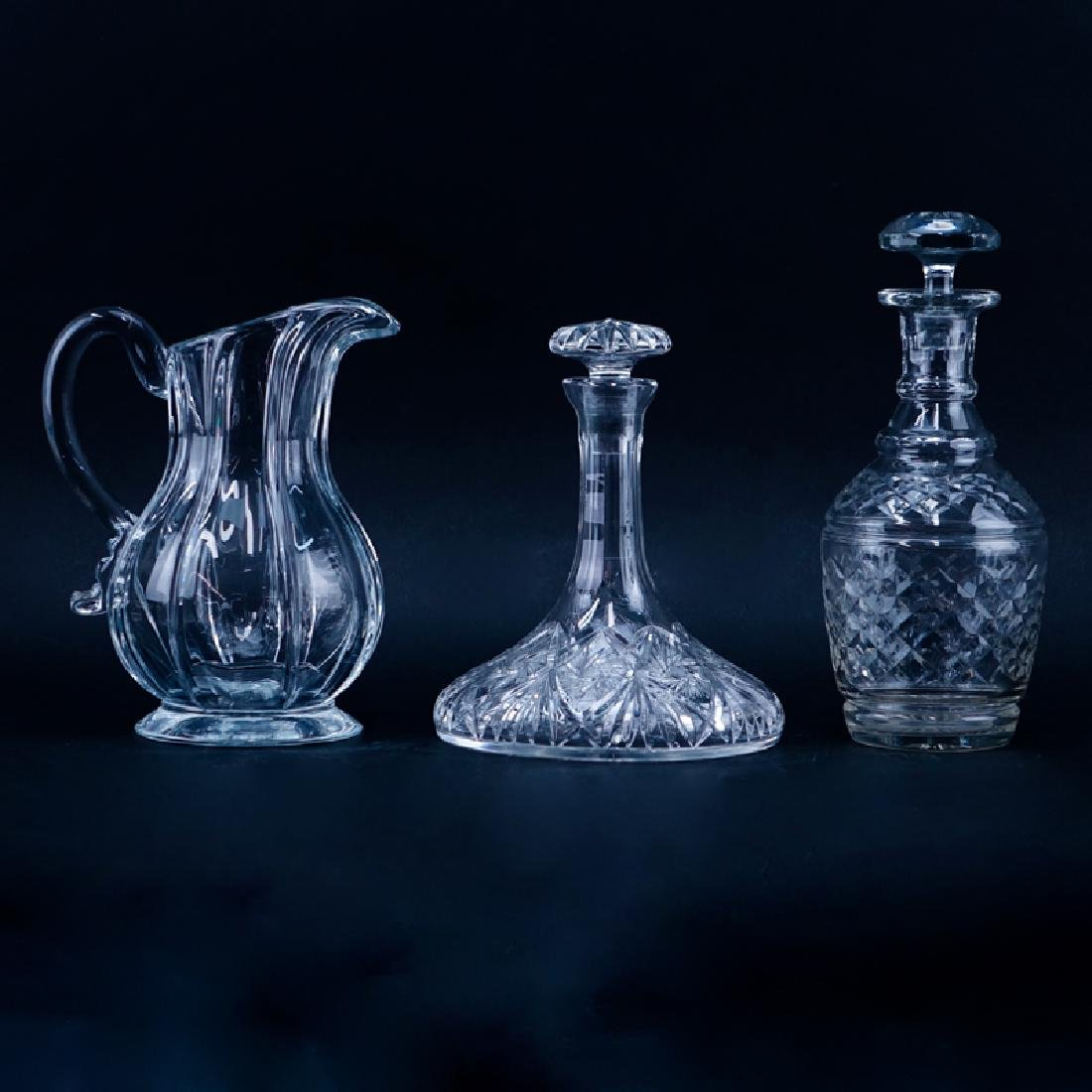 Two (2) Vintage Glass Decanters, One (1) Metropolitan
