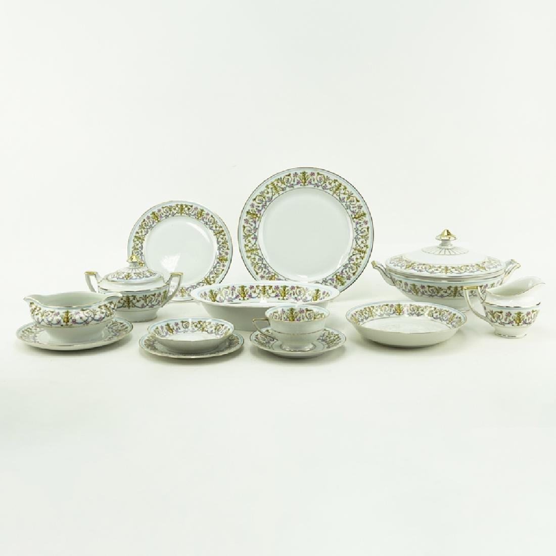 Eighty-Nine (89) Pieces Heinrich H&C Rococo Dinnerware