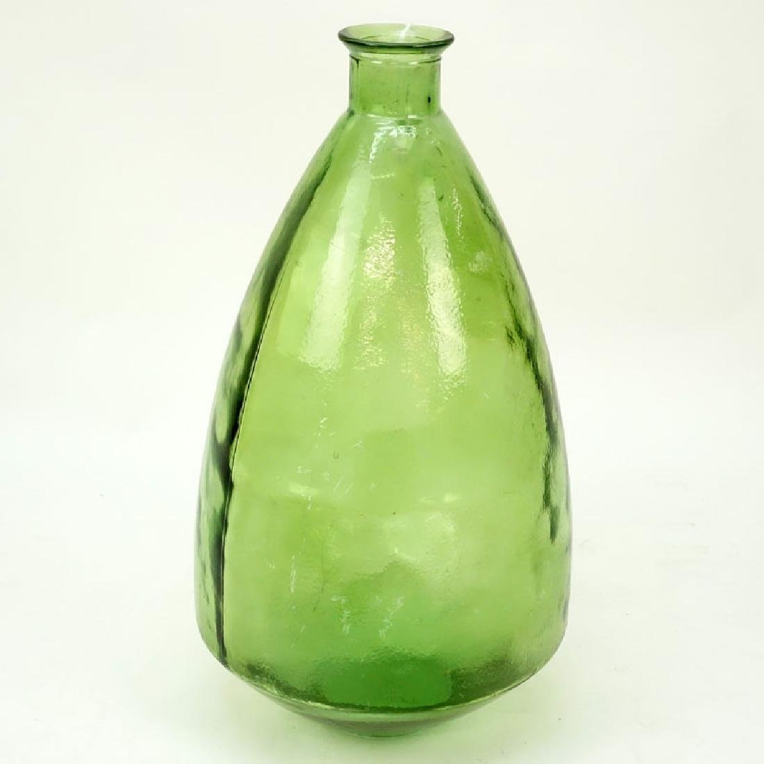 Large Spanish Glass Bulbous Bottle Vase