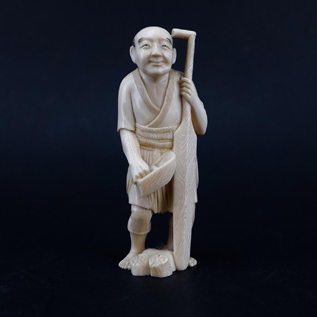 Antique Chinese Carved Ivory Figure Of A Man
