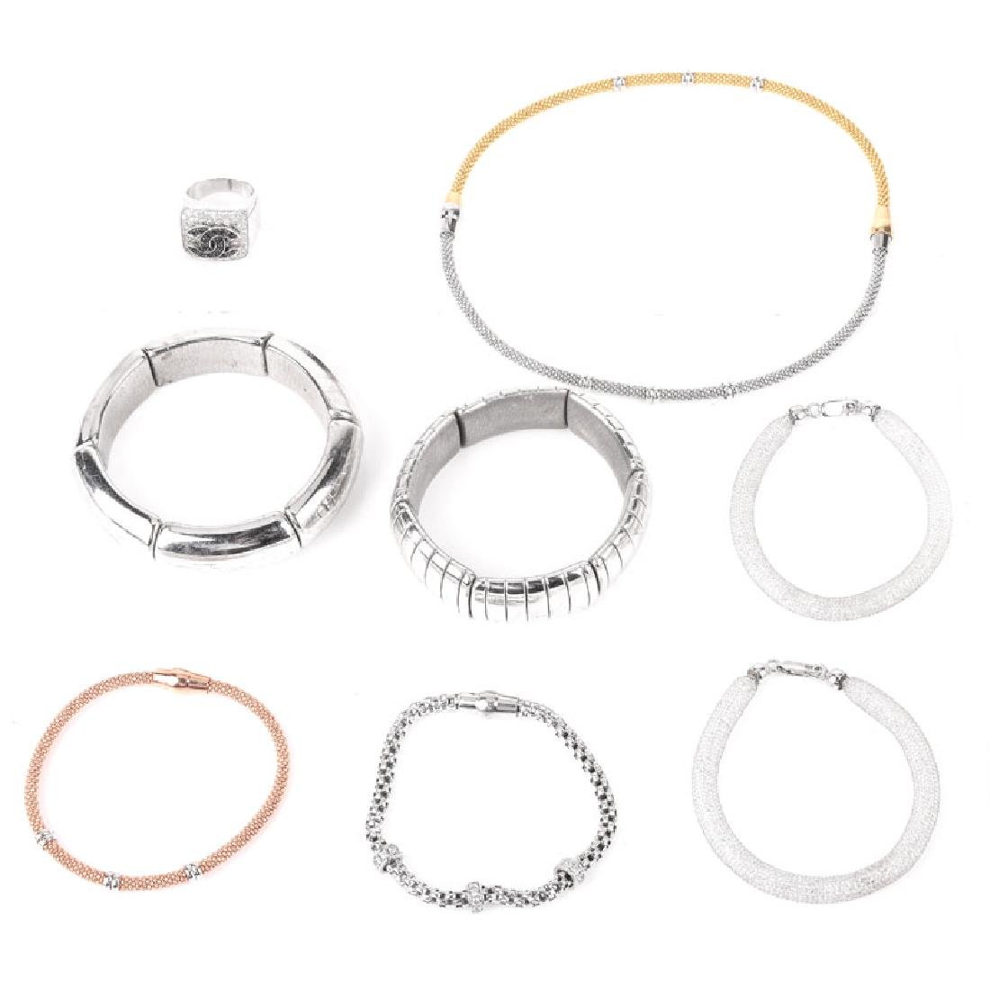 Eight (8) Pieces Sterling Silver Costume Jewelry