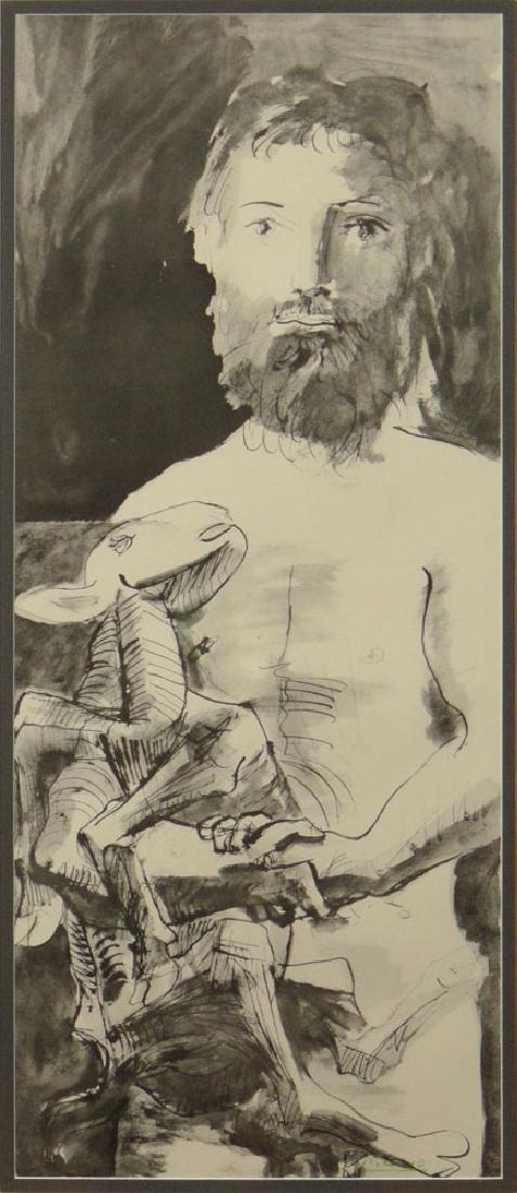 "Pablo Picasso, Spanish (1881-1973) ""Man with Lamb"""