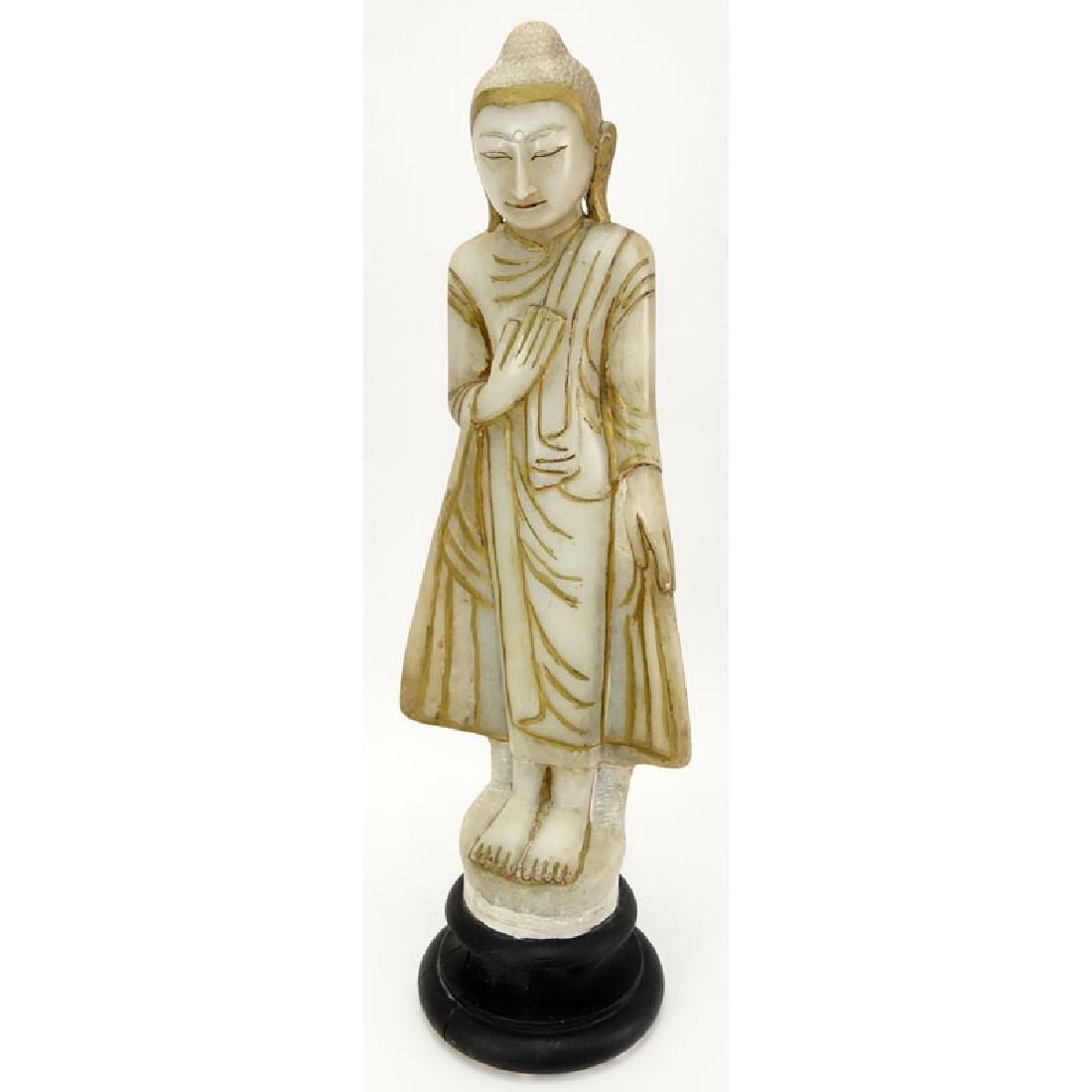 """Vintage Thai Carved Alabaster """"Guanyin"""""""