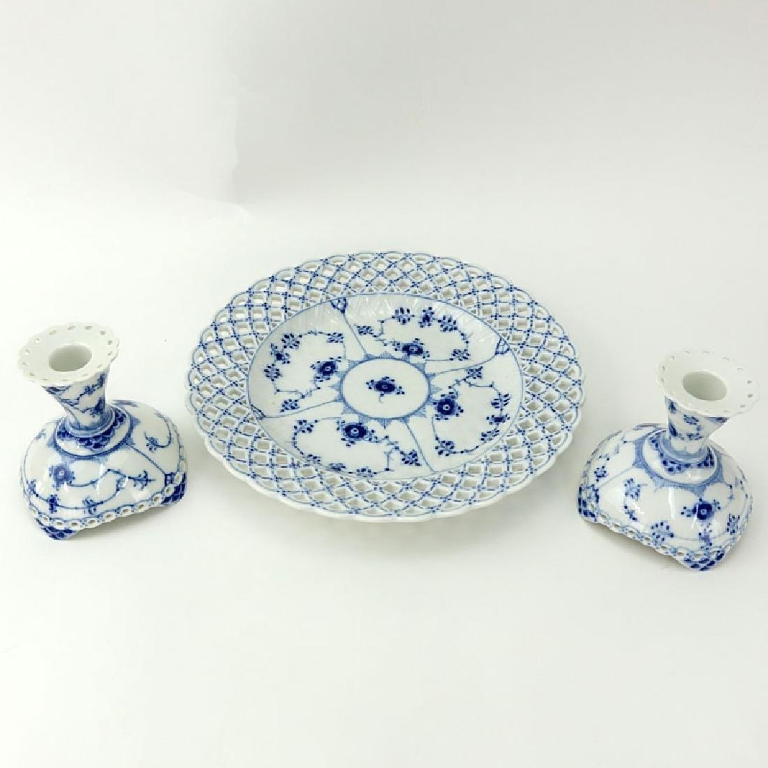 Three Piece Royal Copenhagen Table Top Items