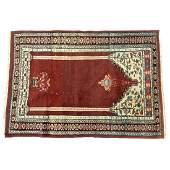 Semi-Antique Turkish Prayer Rug