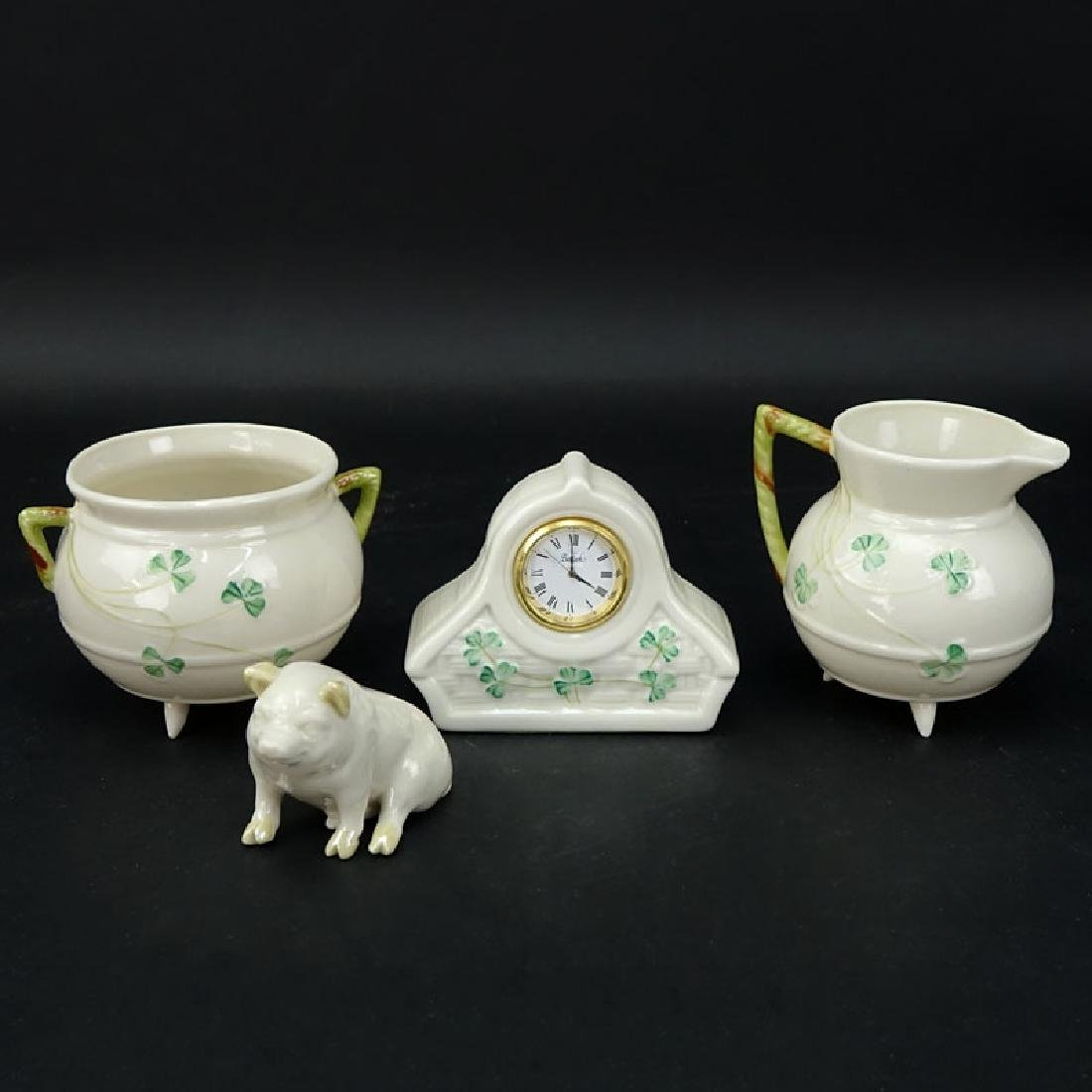 Lot of Three (3) Belleek Porcelain items. No Bowl