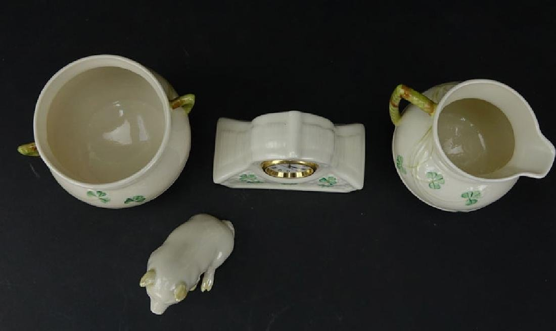 Lot of Three (3) Belleek Porcelain items. No Bowl - 2