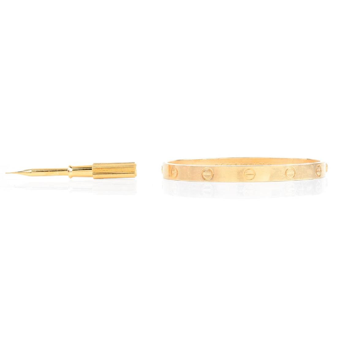 Circa 2014 Cartier 18 Karat Yellow Gold Love Bracelet - 2