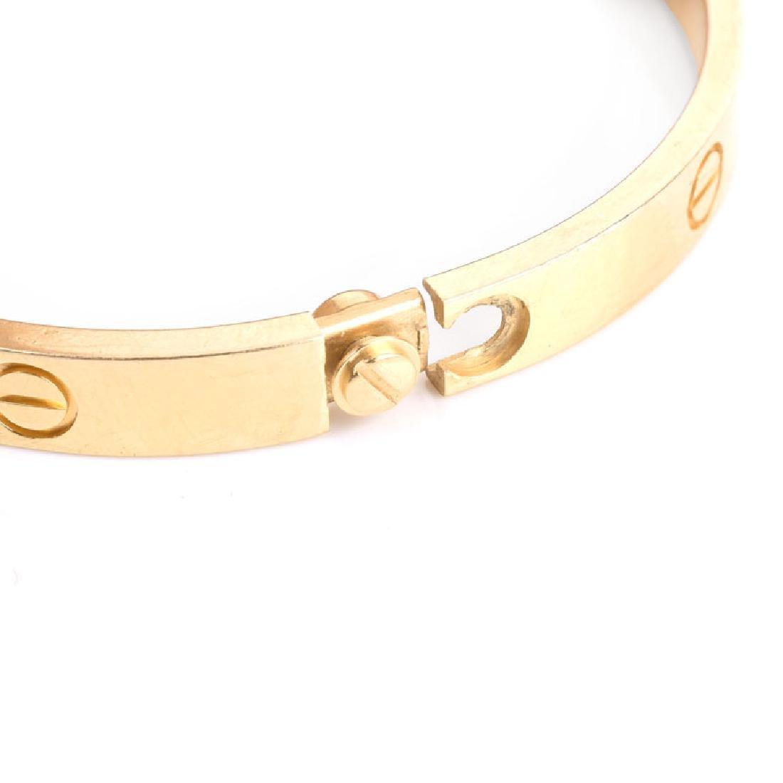 Circa 2014 Cartier 18 Karat Yellow Gold Love Bracelet - 5