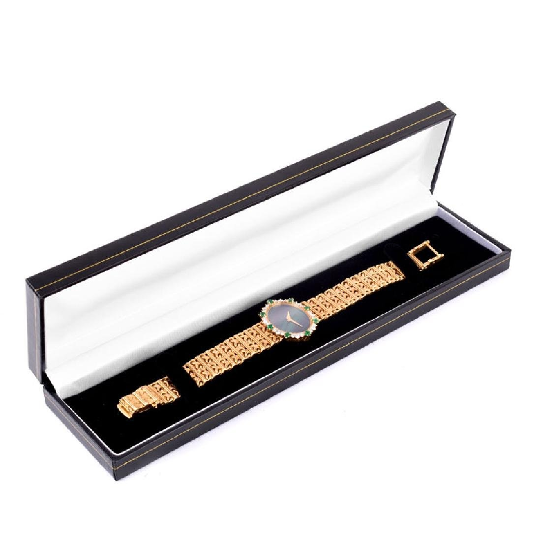 Lady's Vintage Piaget 18 Karat Yellow Gold, Diamond and