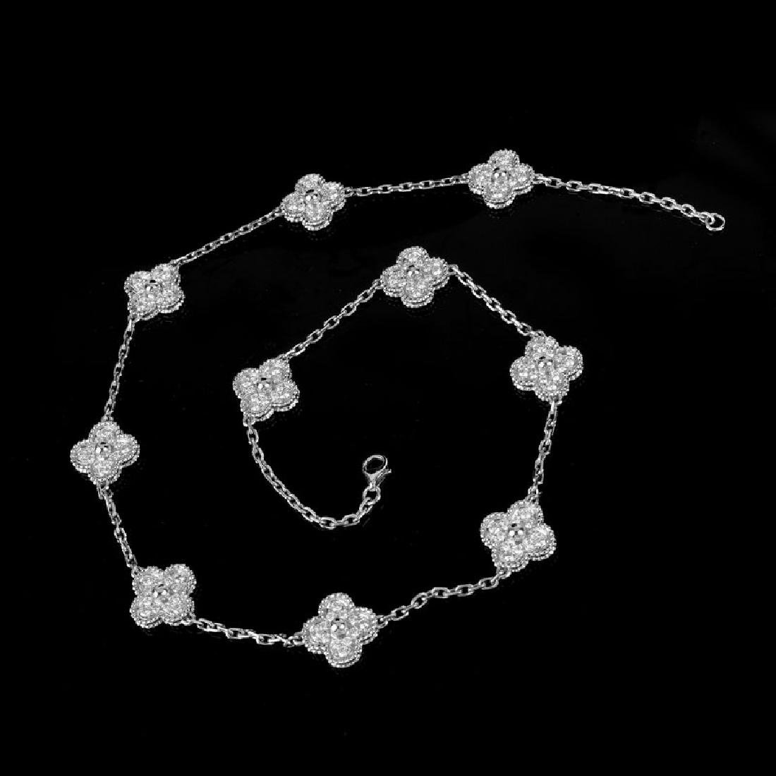 Van Cleef & Arpels Style Diamond and 18 Karat White - 3