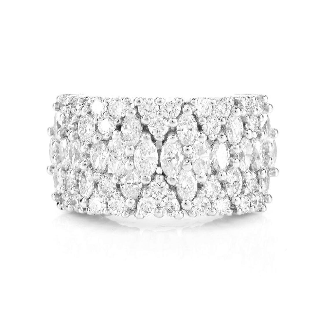 Approx. 2.35 Carat TW Marquise and Round Brilliant Cut - 2