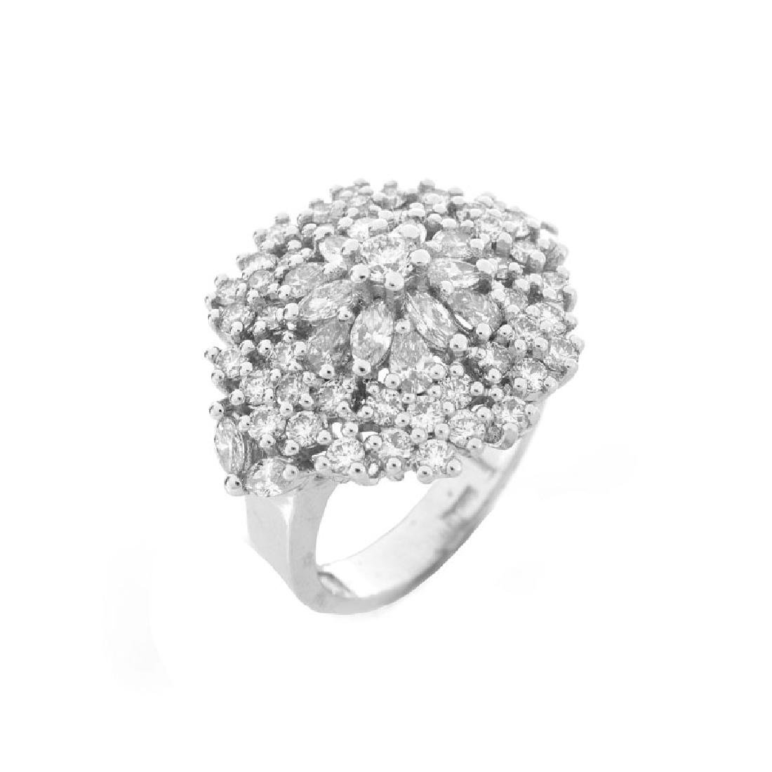 Contemporary Approx. 2.54 Carat TW Marquise, Pear and