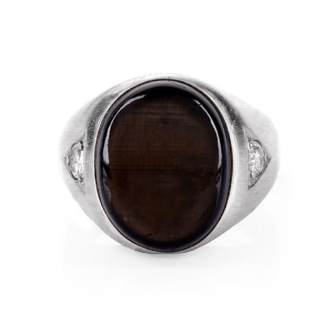Man's Vintage Approx. 12.0 Carat Black Star Sapphire,