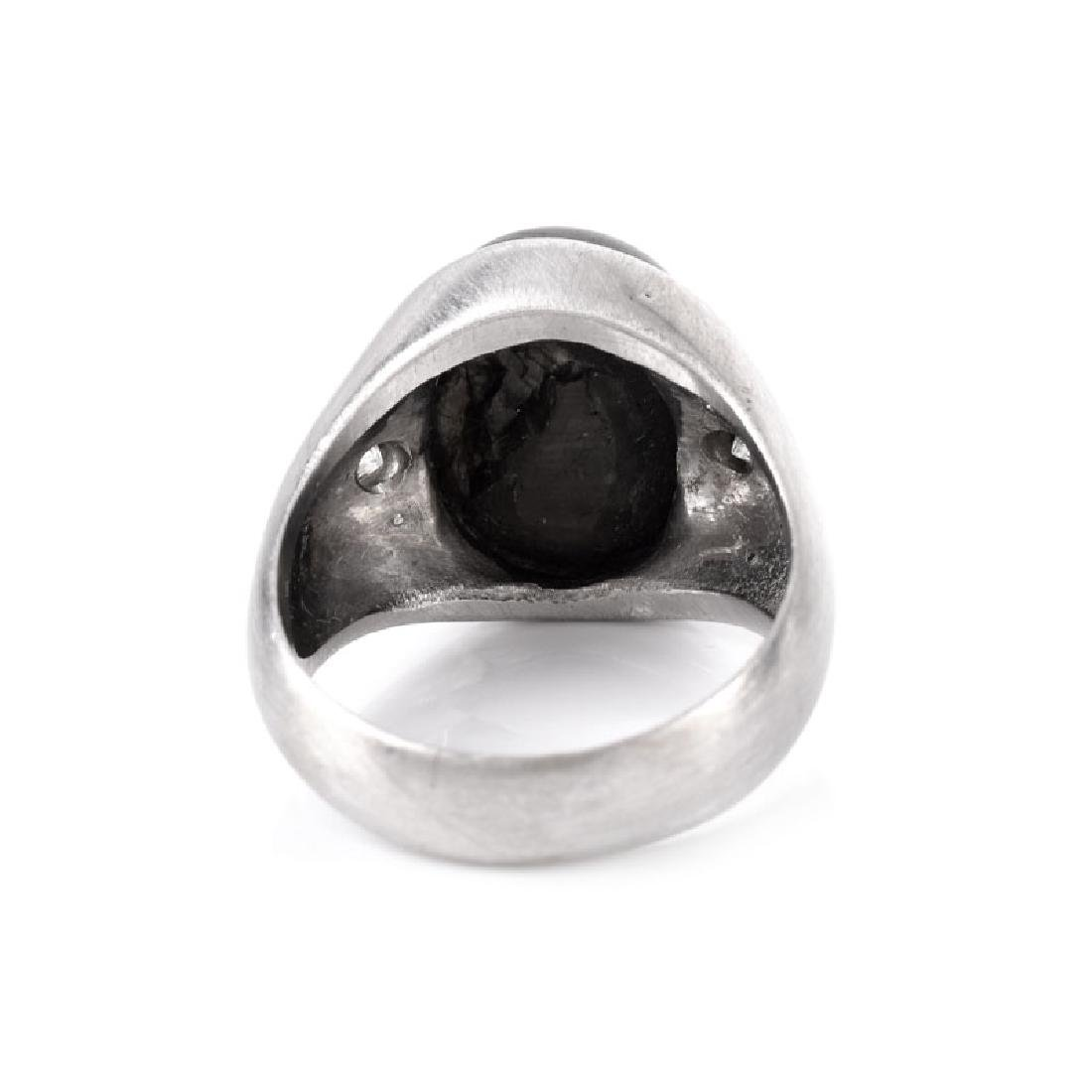 Man's Vintage Approx. 12.0 Carat Black Star Sapphire, - 3