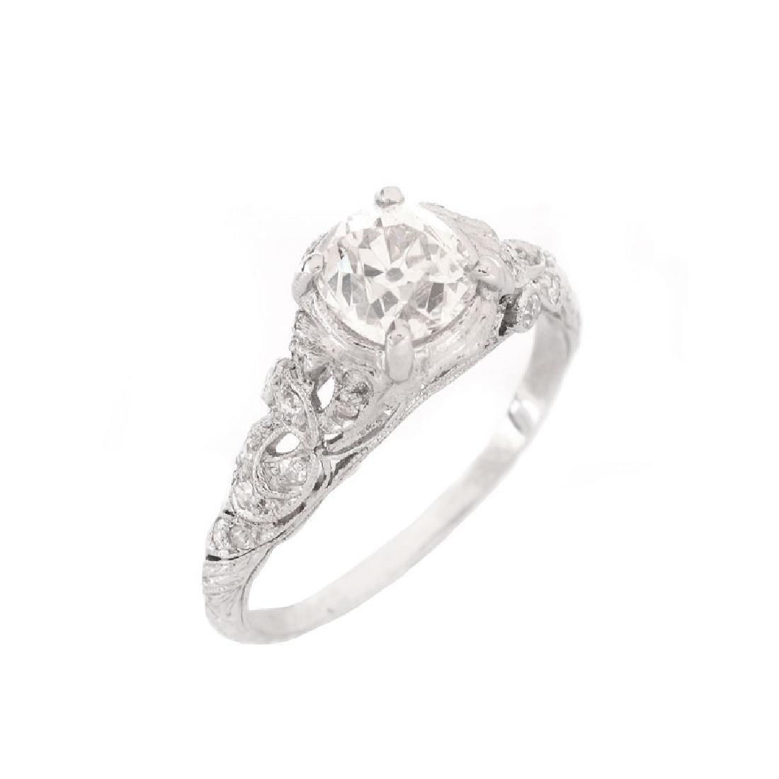 Approx. 1.37 Carat TW Diamond and Platinum Engagement