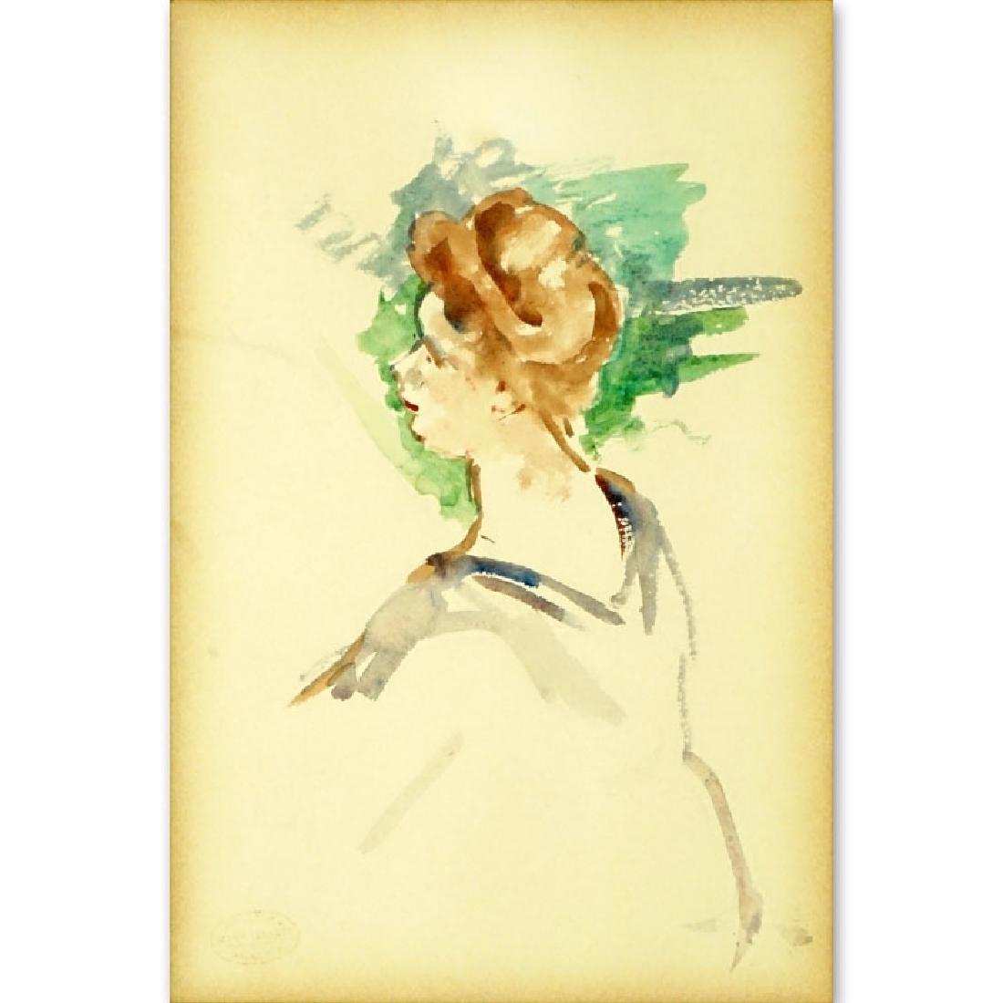 Mary Cassatt, American (1844-1926) Watercolor on paper