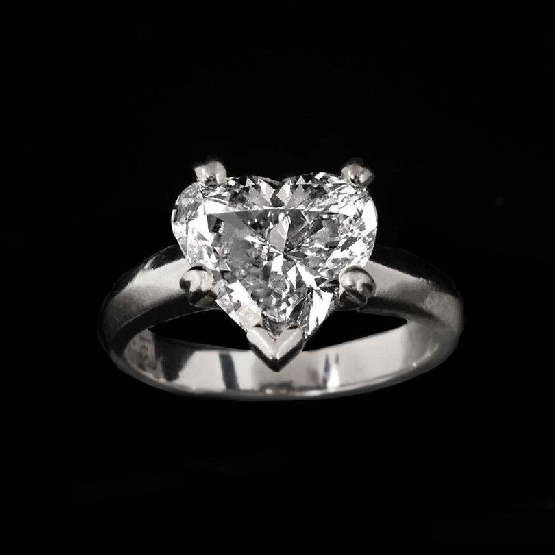 GIA Certified 2.53 Carat Heart Shape Diamond and