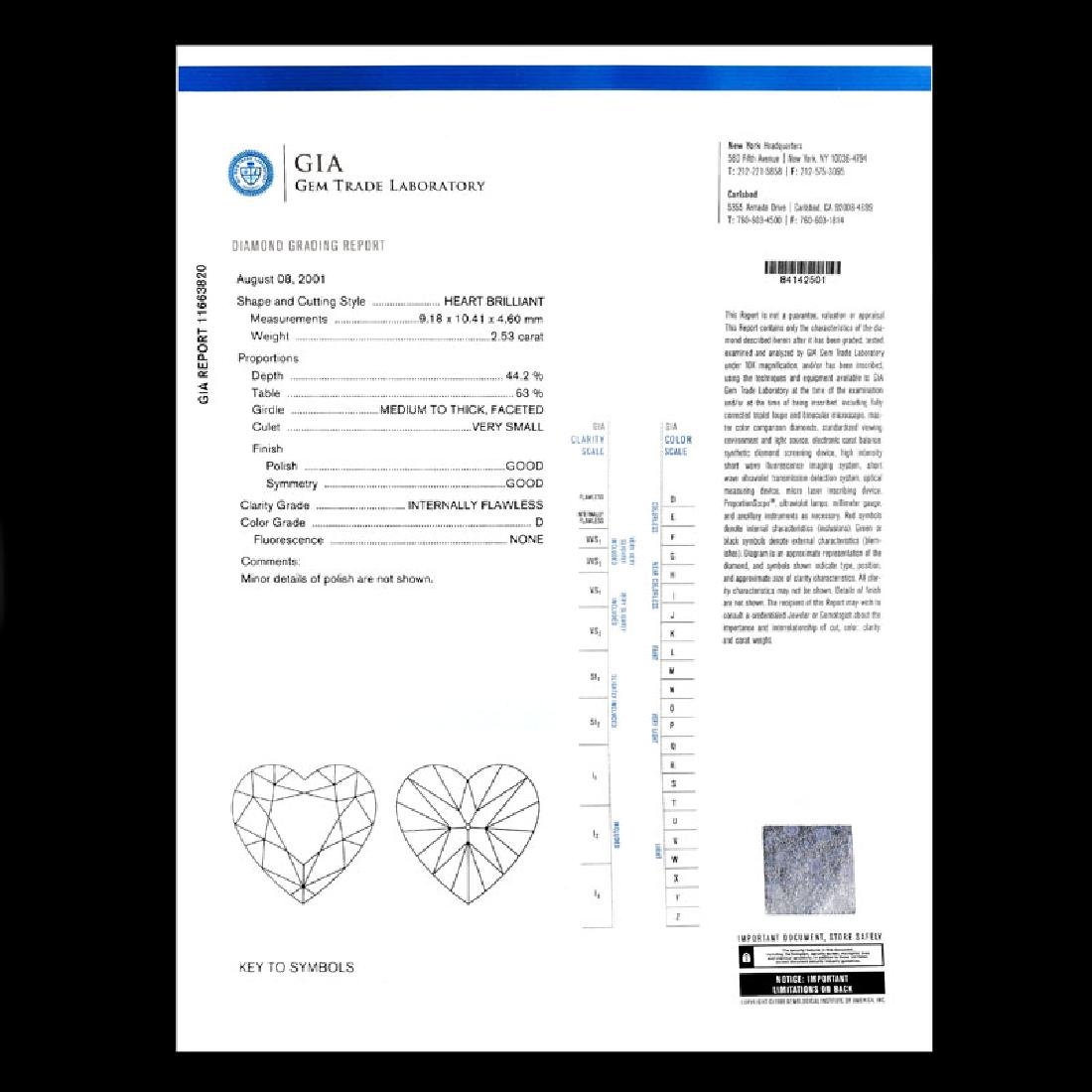 GIA Certified 2.53 Carat Heart Shape Diamond and - 7