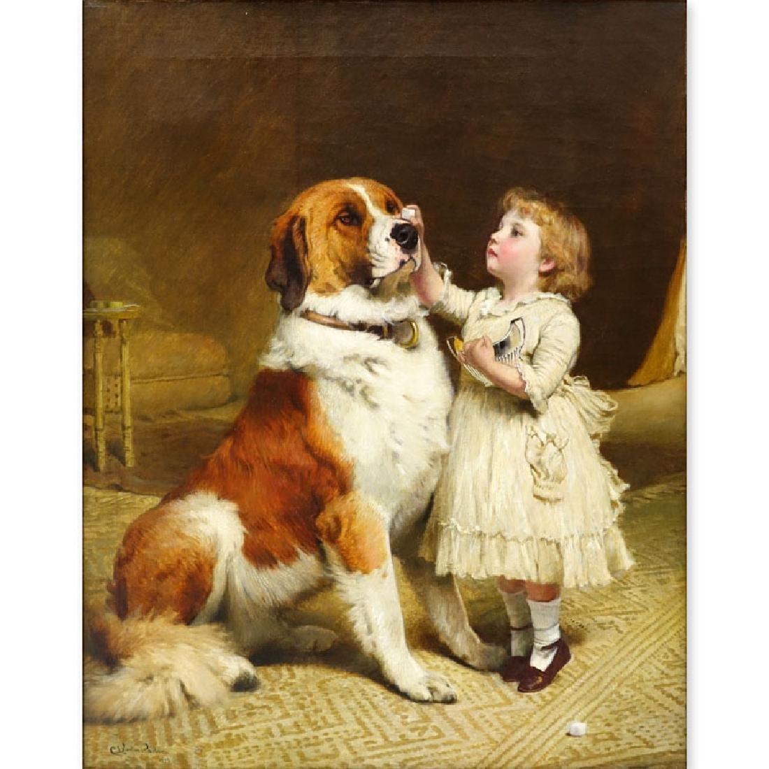 Charles Burton Barber, British (1845-1894) Oil on