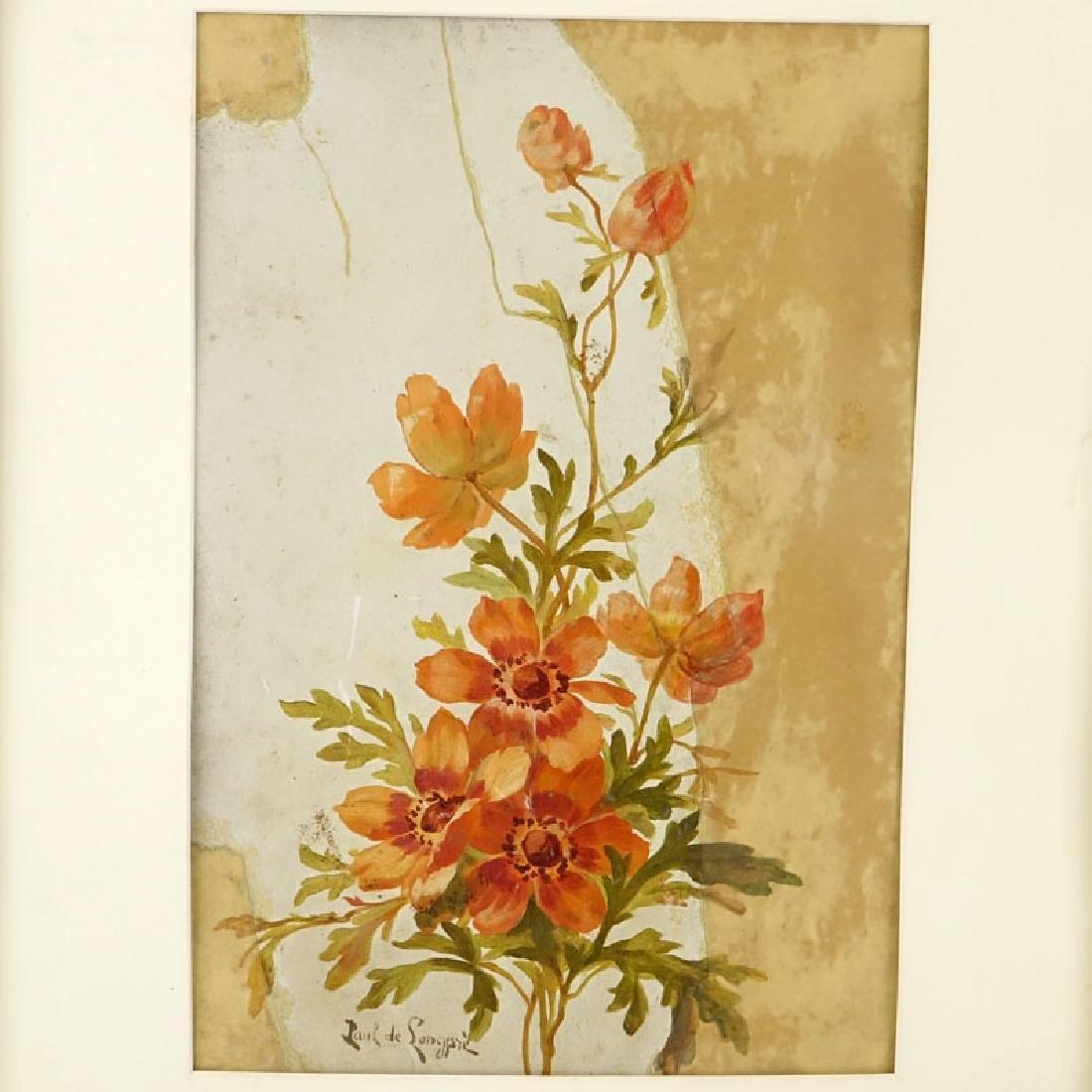 Paul De Longpre, American (1855 - 1911) Watercolor on