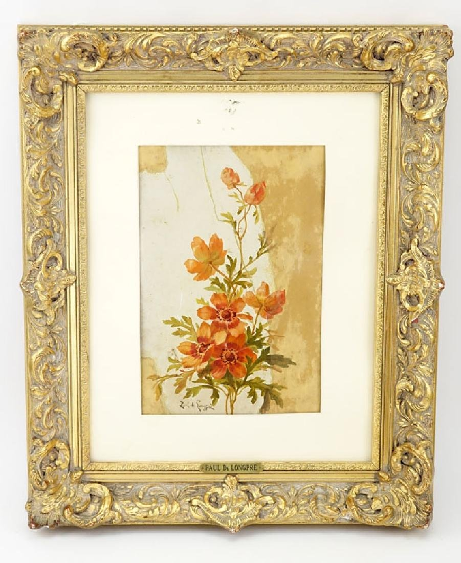 Paul De Longpre, American (1855 - 1911) Watercolor on - 2