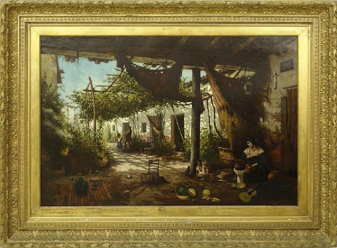 19/20th Century Spanish School Oil Painting On Canvas - 2