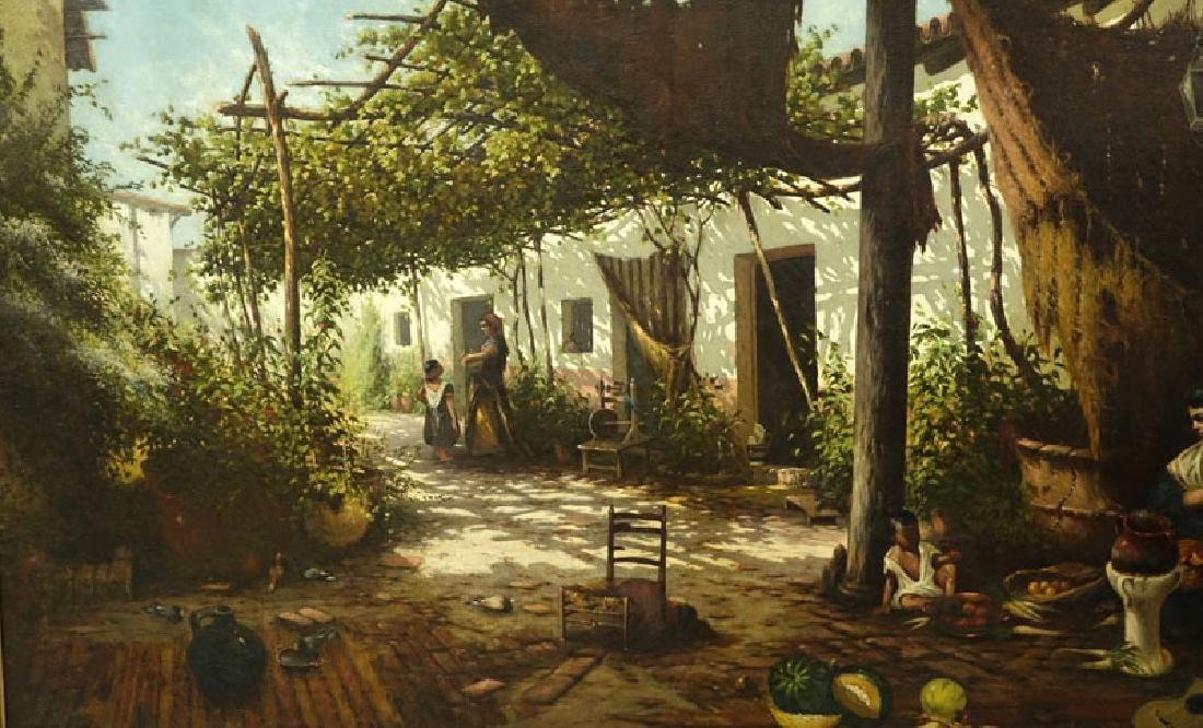 19/20th Century Spanish School Oil Painting On Canvas - 4