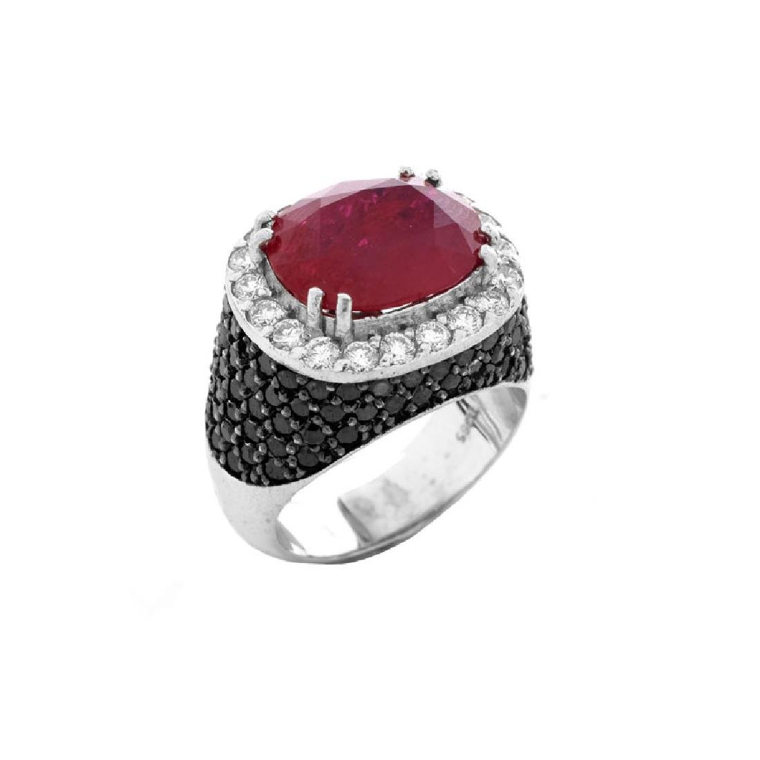 Approx. 5.11 Carat Oval Cut Ruby, 3.50 Carat Micro Pave