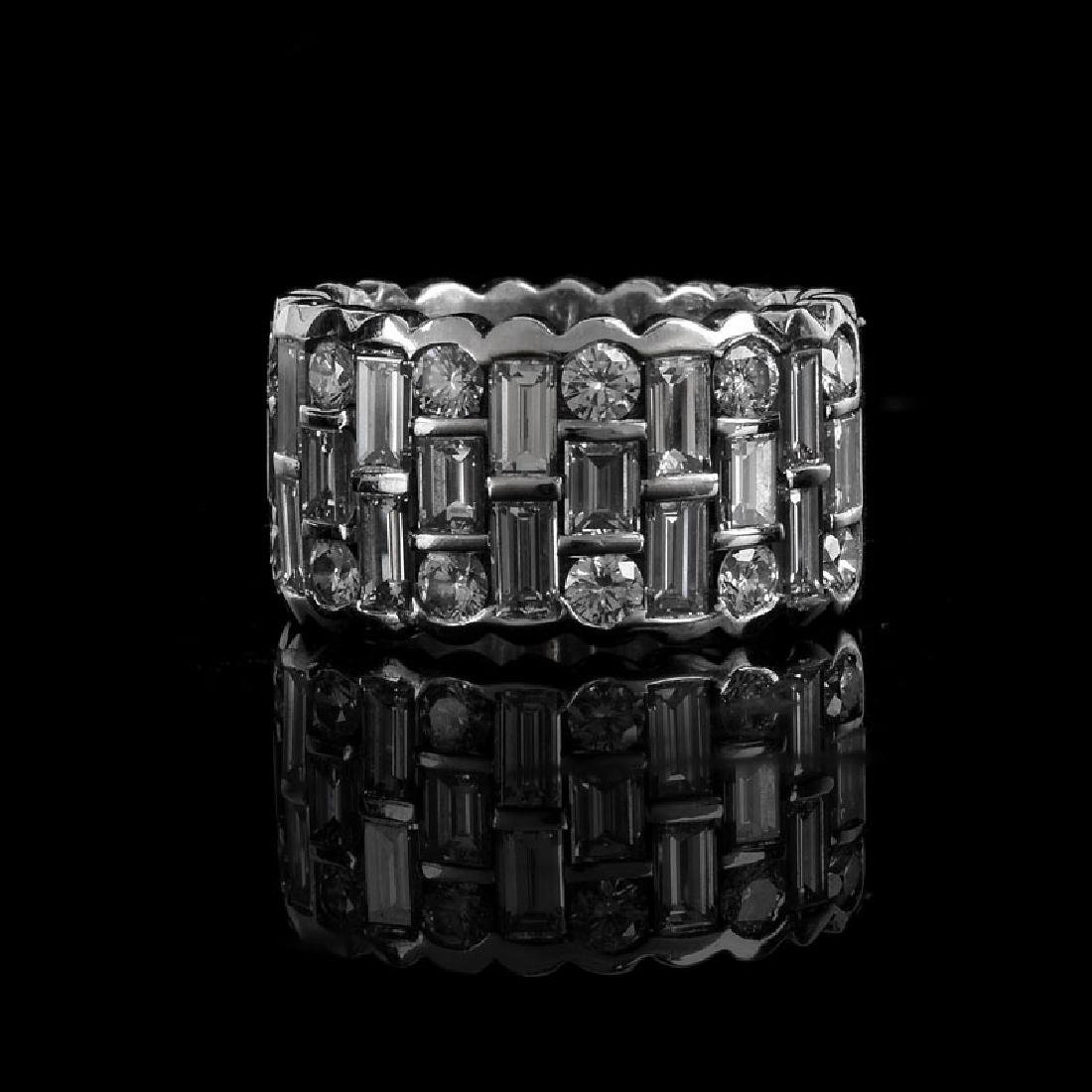 Approx. 4.0 Carat TW Baguette and Round Brilliant Cut