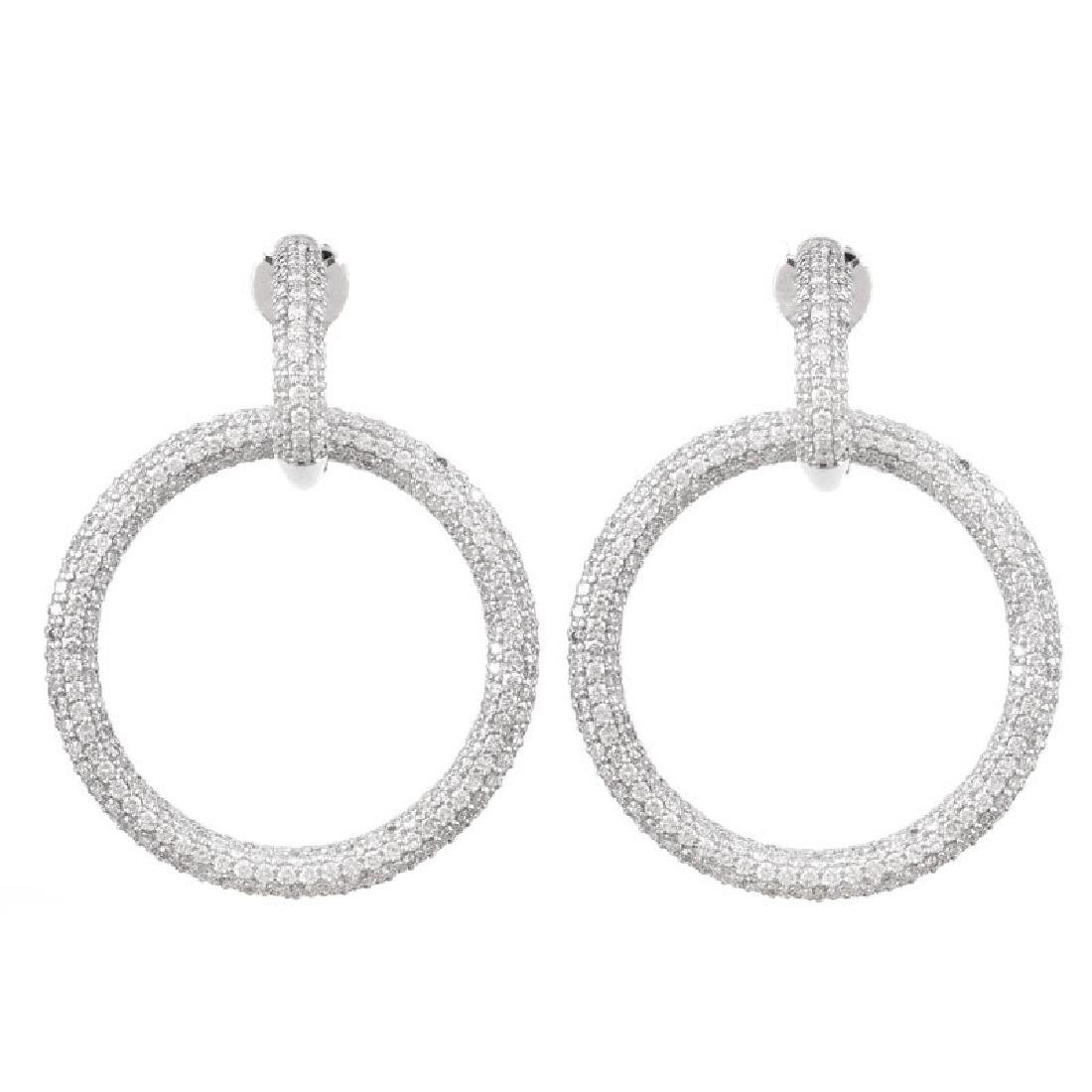 Contemporary Approx. 7.0 Carat Micro Pave Set Round