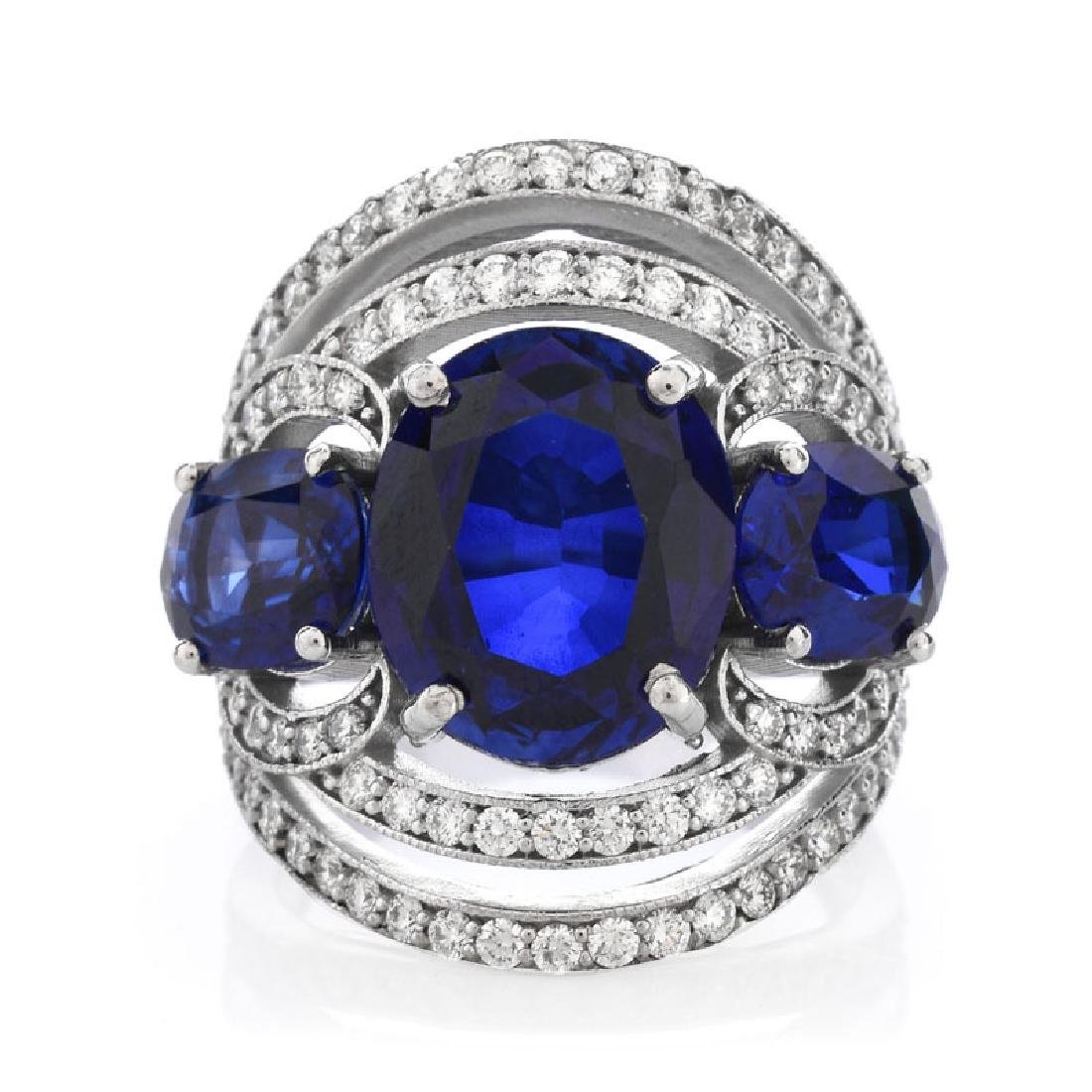 Approx. 10.30 Carat Oval Cut Synthetic Sapphire, 1.20 - 2